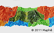 Satellite Panoramic Map of Dechang, political outside
