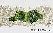 Satellite Panoramic Map of Dechang, shaded relief outside