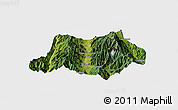 Satellite Panoramic Map of Dechang, single color outside