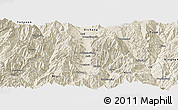 Shaded Relief Panoramic Map of Dechang