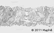 Silver Style Panoramic Map of Dechang