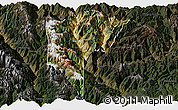 Satellite Panoramic Map of Derong, darken