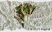 Satellite Panoramic Map of Derong, lighten
