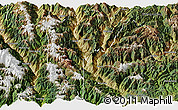 Satellite Panoramic Map of Derong