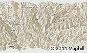 Shaded Relief Panoramic Map of Derong