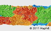 Political Panoramic Map of Dukou Shiqu