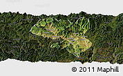 Satellite Panoramic Map of Dukou Shiqu, darken