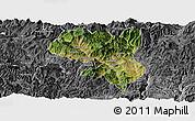Satellite Panoramic Map of Dukou Shiqu, desaturated