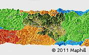 Satellite Panoramic Map of Dukou Shiqu, political outside