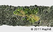Satellite Panoramic Map of Dukou Shiqu, semi-desaturated