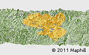Savanna Style Panoramic Map of Dukou Shiqu