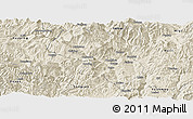 Shaded Relief Panoramic Map of Dukou Shiqu