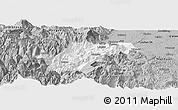Gray Panoramic Map of Ebian