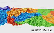 Political Panoramic Map of Ebian