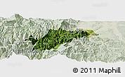 Satellite Panoramic Map of Ebian, lighten