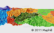 Satellite Panoramic Map of Ebian, political outside
