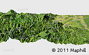 Satellite Panoramic Map of Ebian