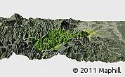 Satellite Panoramic Map of Ebian, semi-desaturated
