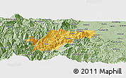 Savanna Style Panoramic Map of Ebian