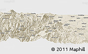 Shaded Relief Panoramic Map of Ebian