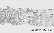 Silver Style Panoramic Map of Ebian
