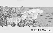 Gray Panoramic Map of Emei