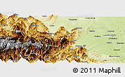 Physical Panoramic Map of Emei
