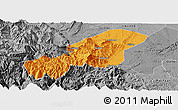 Political Panoramic Map of Emei, desaturated