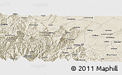 Shaded Relief Panoramic Map of Emei