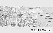 Silver Style Panoramic Map of Emei