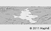 Gray Panoramic Map of Fushun