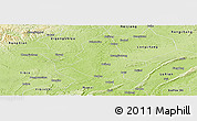 Physical Panoramic Map of Fushun