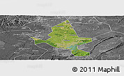 Satellite Panoramic Map of Fushun, desaturated