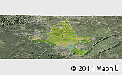 Satellite Panoramic Map of Fushun, semi-desaturated