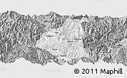 Gray Panoramic Map of Ganluo