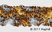 Physical Panoramic Map of Ganluo