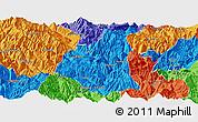 Political Panoramic Map of Ganluo
