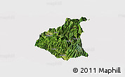 Satellite Panoramic Map of Ganluo, cropped outside
