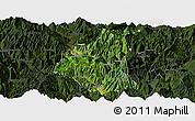 Satellite Panoramic Map of Ganluo, darken