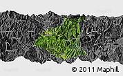 Satellite Panoramic Map of Ganluo, desaturated