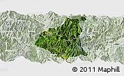 Satellite Panoramic Map of Ganluo, lighten