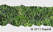 Satellite Panoramic Map of Ganluo
