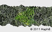 Satellite Panoramic Map of Ganluo, semi-desaturated