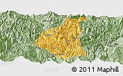 Savanna Style Panoramic Map of Ganluo