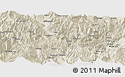 Shaded Relief Panoramic Map of Ganluo