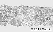 Silver Style Panoramic Map of Ganluo