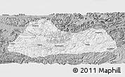 Gray Panoramic Map of Gulin