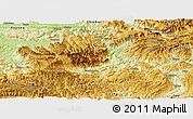 Physical Panoramic Map of Gulin