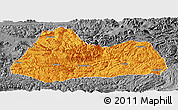 Political Panoramic Map of Gulin, desaturated