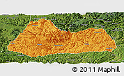 Political Panoramic Map of Gulin, satellite outside